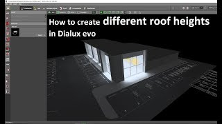 How to create different roof heights in Dialux evo