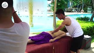 Lomi lomi Back Body massage techniques | Asmr massage for relaxing and lower back pain