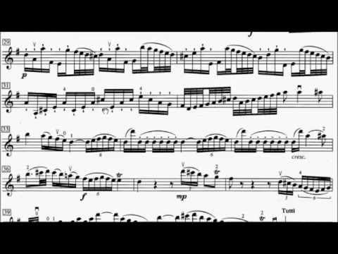 ABRSM Violin 2016-2019 Grade 8 A:2 A2 Haydn Hob.VIIa.4 Concerto Movt 1 Sheet Music