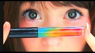 HOW TO MAKE DIY RAINBOW LIP GLOSS