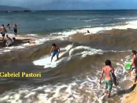 Waimea River How to make waves