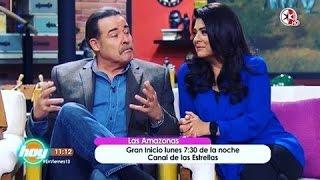 Victoria Ruffo y César Évora en HOY.