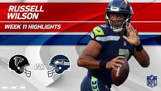 Russell Wilson's Strong Night w/ 344 Total Yards & 3 TDs! | Falcons vs. Seahawks | Wk 11 Player HLs