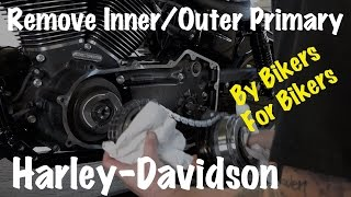 Harley Inner & Outer Primary Housing, Clutch, Compensator Sprocket, Chain Removal-DIY