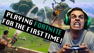 Playing Fortnite for the First Time! | David Lopez