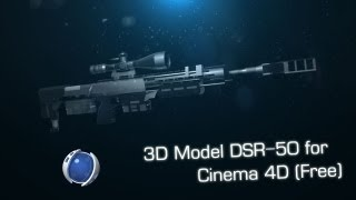 3D Model DSR-50 for Cinema 4D (Free)