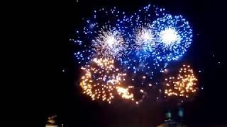 9 мая. День победы, салют. Victory day fireworks in Moscow.