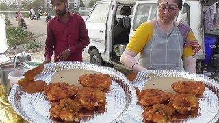 Aunty ka Sabudana Vada | Very Tasty & Crispy | Street Food Hyderabad