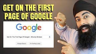 How To Get On The First Page Of Google - SEO 101 | Minority Mindset | Jaspreet Singh