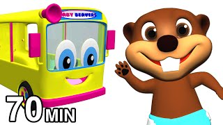 Wheels on the Bus Collection   Kids Nursery Rhymes   Childrens 3D Animation by Busy & Baby Beavers