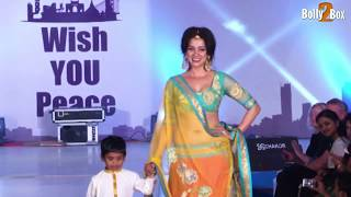 Model Vidya Malvade Walk With kid at  Ramp Walk | Bolly2box