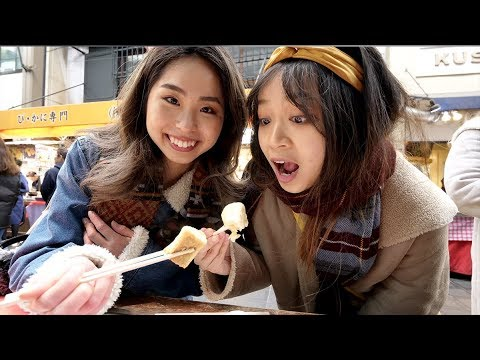 GLORIOUS Japanese STREET FOOD Tour of Kuromon Market Osaka Japan