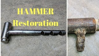 Rusted Hammer of builder  - Impossible Restoration - Mr. NVC Diy Step by Step
