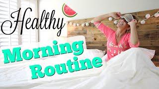 My Healthy Morning Routine | Messy Bun Tutorial!