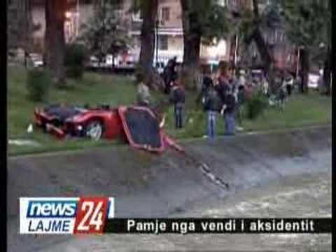 Dritan Hoxha aksidenti Ferrari
