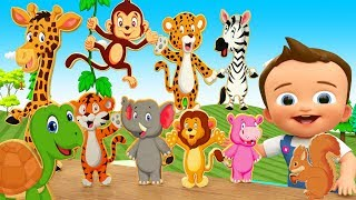 Learn Numbers with Little Baby Play Animal Numbers Chart Preschool Kids Toddlers Educational Video