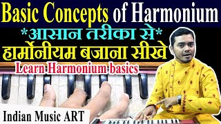 First basic lesson Harmonium for beginners हार्मोनीयम बजाना सीखे