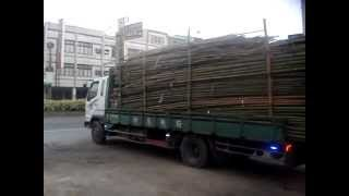 Truck entladen in China 台灣卸貨神人