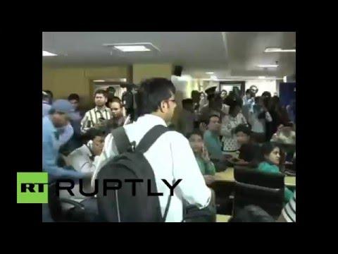 India: See moment man hurls SHOE at Delhi chief minister