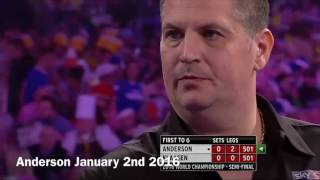 ALL 9 DARTERS IN 2016 COMPILATION INCLUDING MICHAEL VAN GERWEN AND GARY ANDERSON