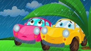 Ralph and rocky | Rain Rain Go Away | Vehicle Songs And Rhymes | happy and sweety