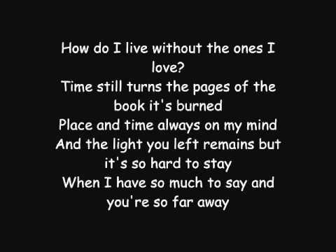 Avenged Sevenfold So Far Away Lyrics