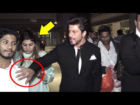 Xxx Mp4 ANGRY Shahrukh Khan Pushes Away A FAN To Save A Lady At Airport 3gp Sex