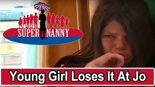 Young Girl Loses It At Jo Frost! | Supernanny USA