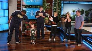 An Inspiring Young Basketball Fan Gets a Huge Surprise!