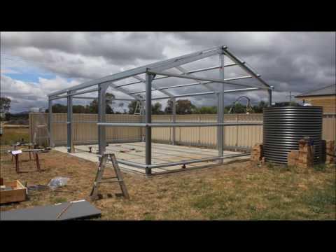 Timelapse shed construction