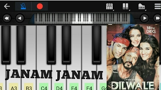 Janam Janam Dilwale (Arijit Singh, Sharukh khan, kirti Sanaon)-Perfect Piano Tutorial [slow version]