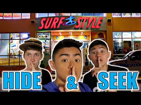 HIDE AND SEEK IN SURF SHOP