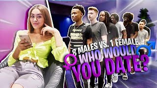 8 vs.1 | who would you date ? ( without seeing them )