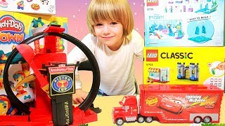 Disney cars lightning mcqueen crazy Crach at Home - 100+cars toys giant egg surprise opening crashes