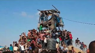 فيديو: 4 قتلى فلسطينيين في اشتباكات مع الجيش الإسرائيلي في غزة…
