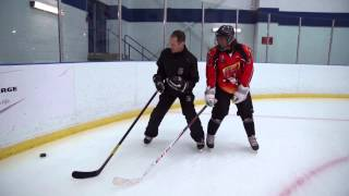 Guy Desjardins, Skills Coach - Web drills Puck Protection In motion