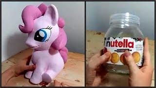 ❣DIY Pony Bank - Nutella Jar and Air Dry Paper Clay❣