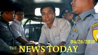 Myanmar Activists Urge President To Release Jailed Reuters Journalists   News Today   04/26/201...