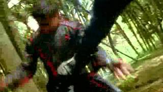 Guile's theme goes with everything- Power Rangers Ninja Storm Wind ninjas vs Thunder ninjas