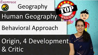 Behavioral Approach: Origin, 4 Development and Critic - Perspectives in Human Geography