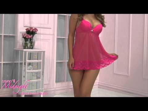 10576 Pink Perfection Babydoll (HOT PINK)