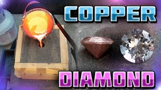 Making Diamond Shaped Paperweight Out of Copper Start to Finish