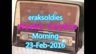 Radio Ceylon 23-02-2016~Tuesday Morning~02 Purani Filmon Ka Sangeet - Remembering Madhubala