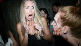 FUNNIEST REACTION TO HAUNTED HOUSE!