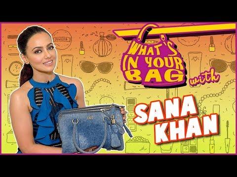 Xxx Mp4 Sana Khan Handbag SECRET REVEALED What S In Your Bag TellyMasala 3gp Sex