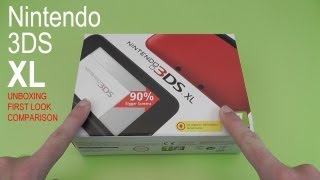 Nintendo 3DS XL Unboxing First Look & Comparison