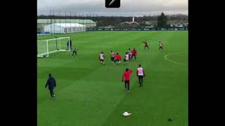 Neymar Jr showing no mercy to his PSG teammates in training session
