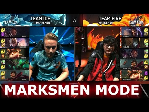 Xxx Mp4 Team Ice Vs Team Fire Marksmen Mode LoL All Star Event 2016 Day 1 ICE Vs FIRE ADC 3gp Sex