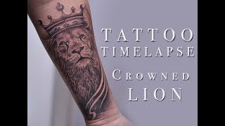 Lion Crown Tattoo Timelapse at N.A Tattoo Studio Abhishek Ahuja