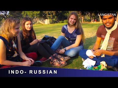 Russian Girls SPEAKING Mind blowing Hindi & EATING Russian Chocolates : INDO-RUSSIAN-NEPALI MEETING
